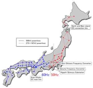 Power grid of Japan